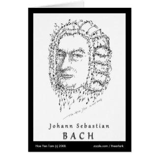 Bachは音楽に直面します カード