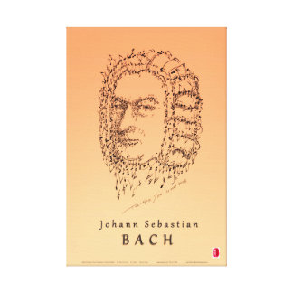 Bachは音楽に直面します キャンバスプリント