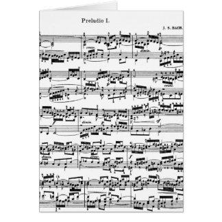 Bach著楽譜 カード