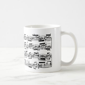 Bach著楽譜 コーヒーマグカップ