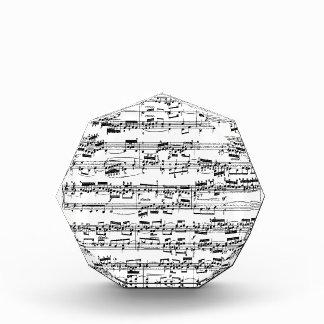 Bach著楽譜 表彰盾