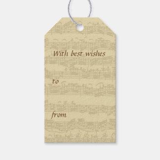Bach音楽原稿すべての行事 ギフトタグパック