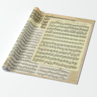 Bach音楽原稿ページ 包装紙