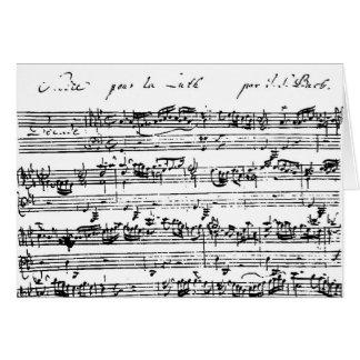 Bach音楽空白のなカード カード