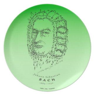 Bach: 音楽に直面して下さい プレート