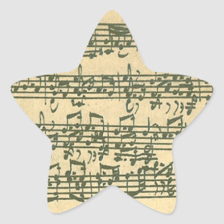 Bach Chaconneの星のステッカー 星型シール