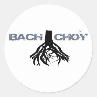 Bach Choyのロゴのステッカー 丸形シール・ステッカー