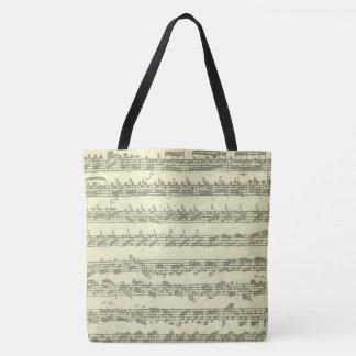 Bach Partitaのオリジナルの音楽作品の原稿抄録 トートバッグ