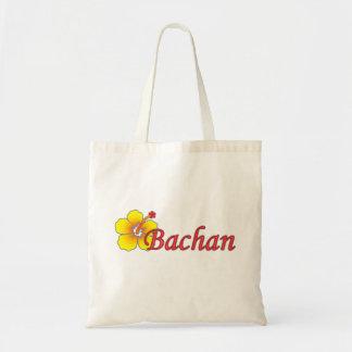 Bachanのハイビスカスの買い物袋 トートバッグ