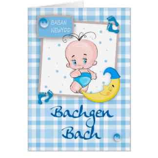 Bachgen BachのBaban Newydd -ウェールズの新生児の男の子 カード