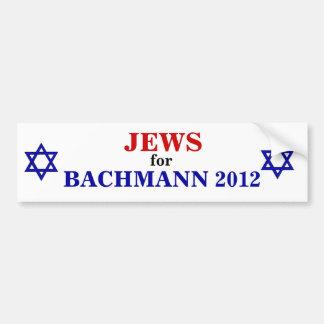 Bachmannの2012年のステッカーのためのユダヤ人 バンパーステッカー