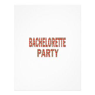 BACHOLERETTEのパーティー: 結婚式の婚約LOWPRICES レターヘッド