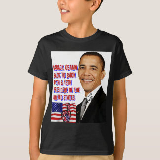 Back_に戻るバラック・オバマ、 Tシャツ