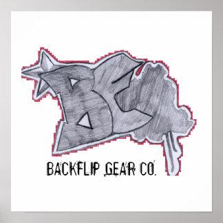 Backflipポスター(ロゴ1) ポスター