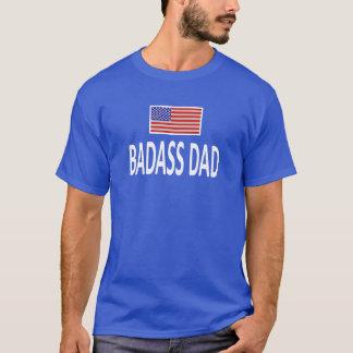 BADASSのパパの米国旗 Tシャツ