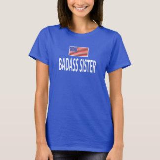 BADASSの姉妹の米国旗 Tシャツ