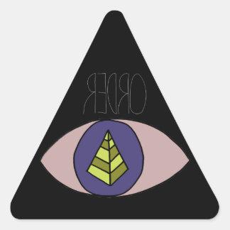 Badassの黒 三角形シール