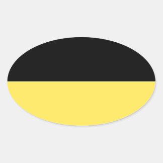 Baden-Württemberg (ドイツ)の旗 楕円形シール