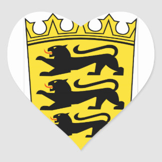 Baden-Württemberg (ドイツ)の紋章付き外衣 ハートシール