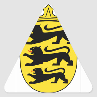 Baden-Württemberg (ドイツ)の紋章付き外衣 三角形シール