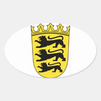 Baden-Württemberg (ドイツ)の紋章付き外衣 楕円形シール