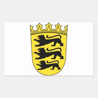 Baden-Württemberg (ドイツ)の紋章付き外衣 長方形シール