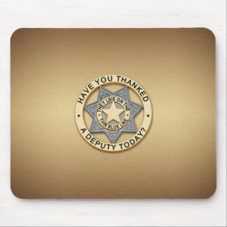 Badge薄いブルーライン代理 マウスパッド