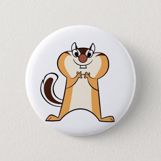 badge chipmunk 5.7cm 丸型バッジ