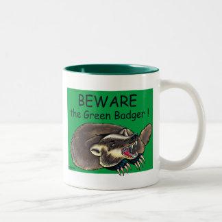 Badger_GREEN ツートーンマグカップ