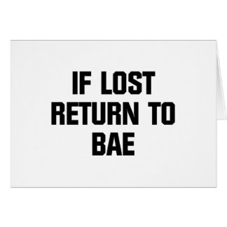 Baeに戻して下さい カード