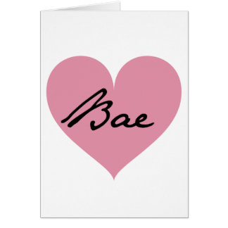Baeのハート カード