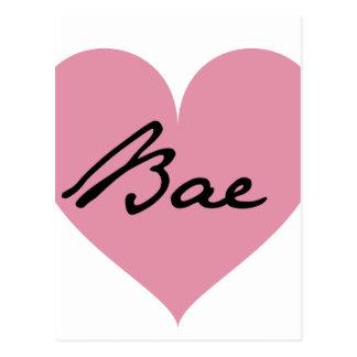 Baeのハート ポストカード