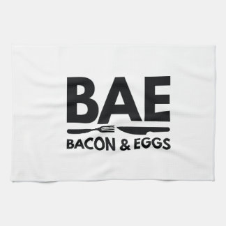 BAEのベーコン・エッグ キッチンタオル