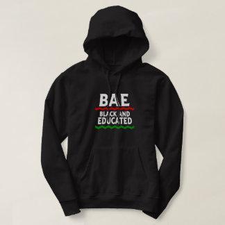 BAEの黒く、教育があるフード付きスウェットシャツ パーカ