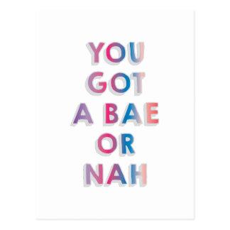 BaeまたはNah ポストカード