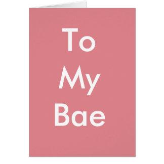 Bae私のカードへのハッピーバースデー カード