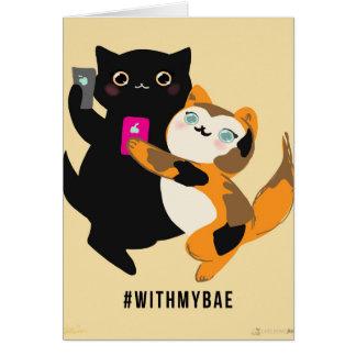 Bae私の基本的な猫を使って カード