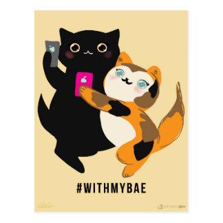 Bae私の基本的な猫を使って ポストカード