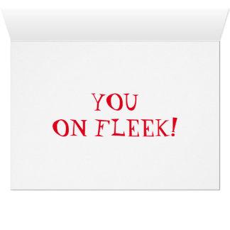 BAE - Fleekの挨拶状の カード