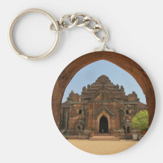 Baganの寺院 ベーシック丸型缶キーホルダー