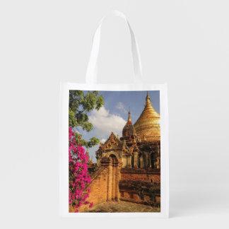 Bagan (異教徒)のDhamma Yazakaの塔、ミャンマー エコバッグ