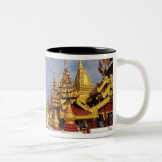 Bagan (異教徒)のShwezigonの塔の複合体、 ツートーンマグカップ