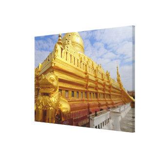 Bagan、Bagan (異教徒)のShwezigonの塔、 キャンバスプリント