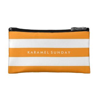 Baggette - KSの署名の航海のなオレンジ コスメティックバッグ