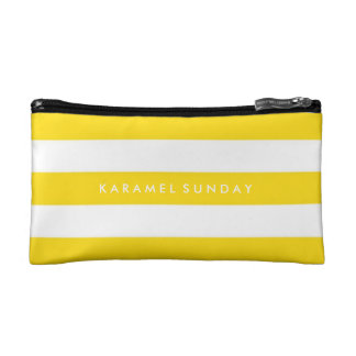 Baggette - KSの署名の航海のな黄色 コスメティックバッグ