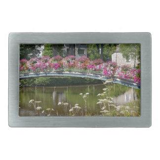 Bagnoles del'Orneの花いっぱいの橋 長方形ベルトバックル