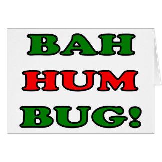 Bahのハム雑音の虫 グリーティングカード