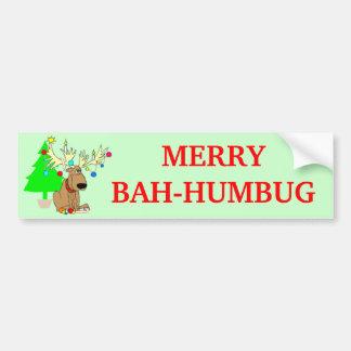 Bahのメリーなばかばかしいトナカイのおもしろいなクリスマス バンパーステッカー