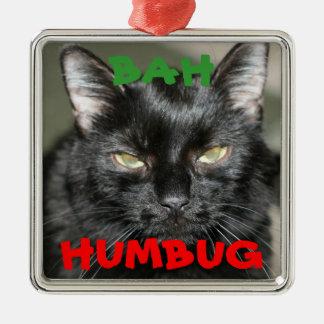 Bahばかばかしく気難しい猫の休日のオーナメント メタルオーナメント