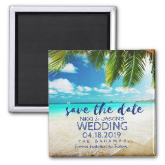 Bahamas Beach Wedding Save the Date Magnets マグネット